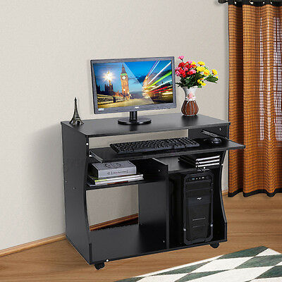 Wooden Space Saver Computer Desk Table Workstation Study Home Office Furniture