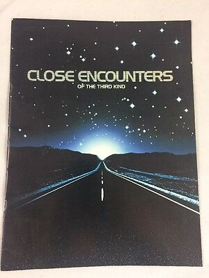 Close Encounters Of The Third Kind Official Film Program American