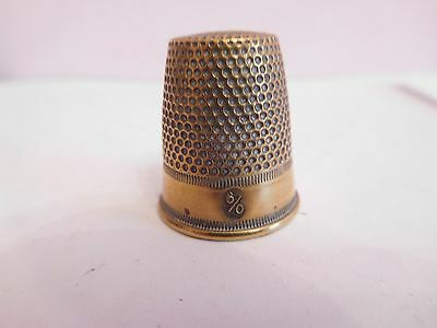 *found* Early Classic Brass 6/0  Design Thimble