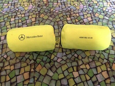 2 X Mercedes Genuine Safety Warning Compact Vest In Bag P/n A0005833500 New!!!
