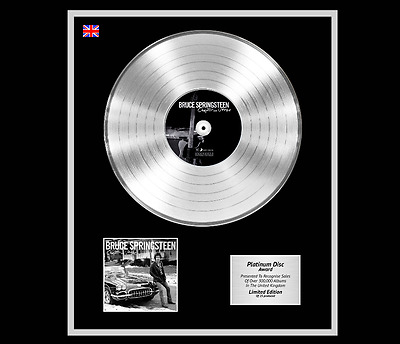 BRUCE SPRINGSTEEN Ltd Edition CD Platinum Disc Record CHAPTER AND VERSE