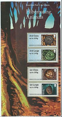 Great Britain 2016 Post And Go Hibernating Animals In Pack  Unmounted Mint, Mnh
