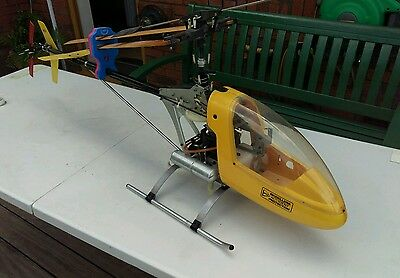 Vintage RC Helicopter built from new kit - Kalt Baron 50 size