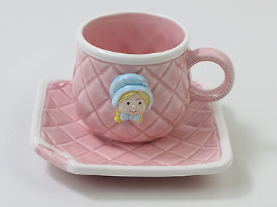 Child's Pink Cup & Saucer American Greetings Little Blessings Girls Tea Party