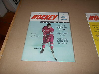 December 1958 Hockey Pictorial Magazine Norm Ullman Detroit Red Wings