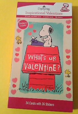 Peanuts Snoopy Valentines Day cards box