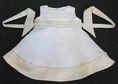 Party dress baby girl christening bridesmaid flower girl ivory cream 12 months