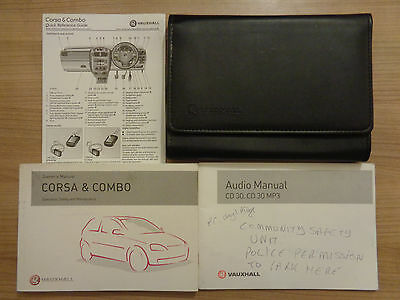 Vauxhall Corsa & Combo Owners Handbook/Manual and Pack 01-04