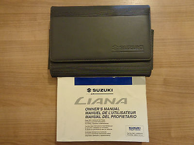 Suzuki Liana Owners Handbook/Manual and Wallet 01-04