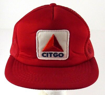 Citgo Trucker Hat Cap Snapback Mesh Fuel Gas Red