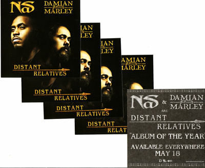 NAS/DAMIAN MARLEY Distant Relatives 4 cd PROMO STICKERS