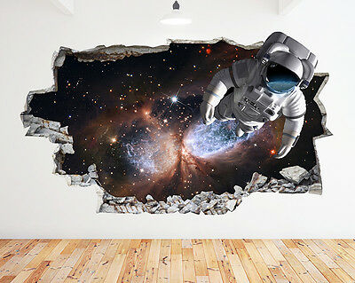 C057 Dance Graffiti Cool Bedroom Smashed Wall Decal 3D Art Stickers Vinyl Room