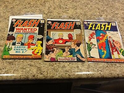 Lot of 3 The Flash 149, 156, 157 1965 and 1964 Silver Age Comics
