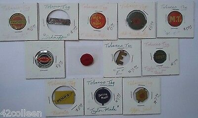 Antique Tobacco Tags Lot Awesome Great Condition Way Cool Small Collection