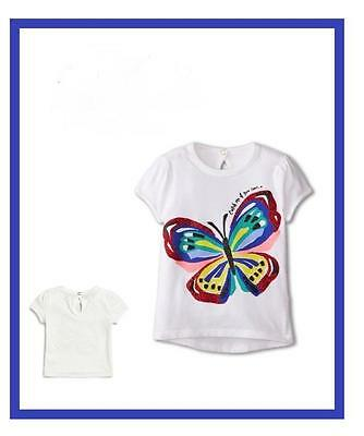 Kate Spade New York Baby Brushstroke Butterfly Tee White 18 Or 24 Months Nwt