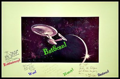 STAR TREK: TMP Painting/Print   Roddenberry-Wise-Nimoy-Shatner!  AND 8x12 Photo!