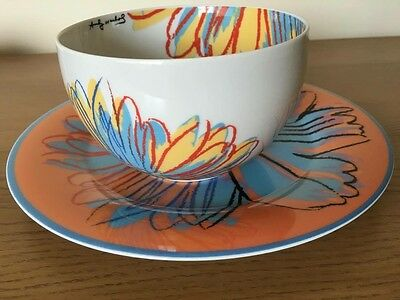 Rosenthal Andy Warhol Studio Line Bowl and Plate, Daisies Pattern, New