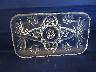 Anchor Hocking Early American Press Cut Rectangular Relish Dish EAPC