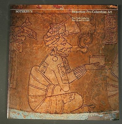 Sothebys Important Pre-Columbian Art NY May 1983 with prices realized!