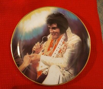"""ELVIS PRESLEY REMEMBERED 10"""" LOVING YOU Collector Plate #2 Artist Susie Morton"""