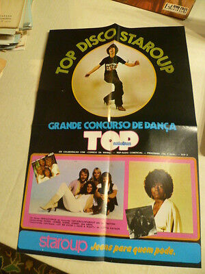VINTAGE RARE PORTUGUESE  POSTER from the 80's with ABBA