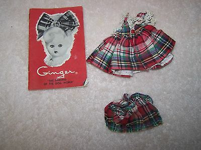 Vintage Cosmopolitan Doll & Toy Corp Ginger Lot Dress Bloomers And Booklet
