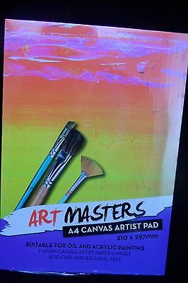 Art Masters - A4 Canvas Artist Pad - 210 × 297 mm - Free Postage