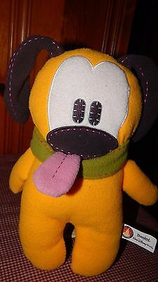 DisneyLand Pluto Pook-a-Looz Plush Doll Sot Stuffed Toy Doll Mickey Mouse 11""