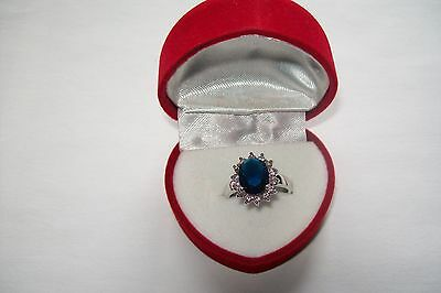 PRINCESS DI {REPLICA} ROYAL ENGAGEMENT RING WITH RED VALOUR BOX {lLAST ONE!!}