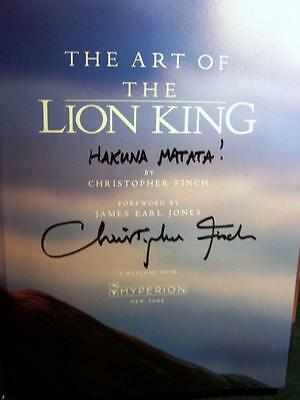 Disney Art of The Lion King Book Finch SIGNED!