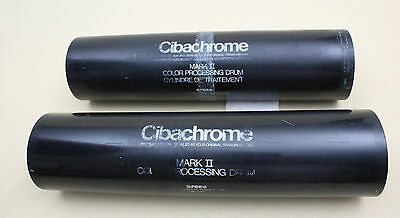 Two Ilford Cibachrome Mark II 11x14 extension tube for the 8x10 Developing drum