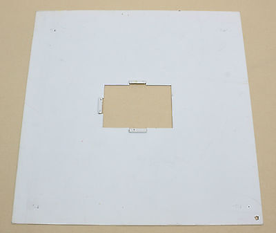 """White plate 10 1/8"""" with  2"""" x3"""" opening for Ilford 400 multigrade system box?"""