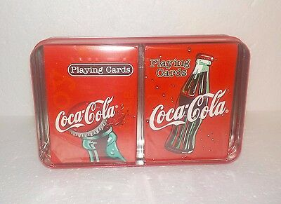 Coca Cola Collector Tin & 2 Decks of Playing Cards - New