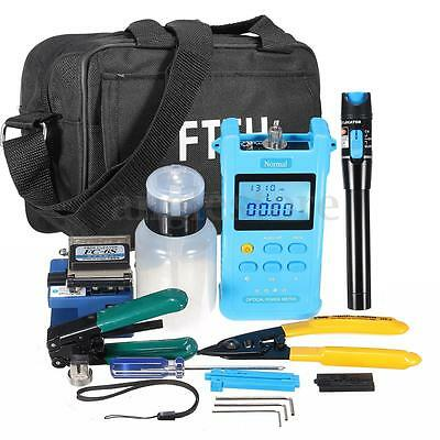 FTTH Fiber Optic Tool Kit Fiber Cleaver FC-6S Power Meter Visual Fault Locator