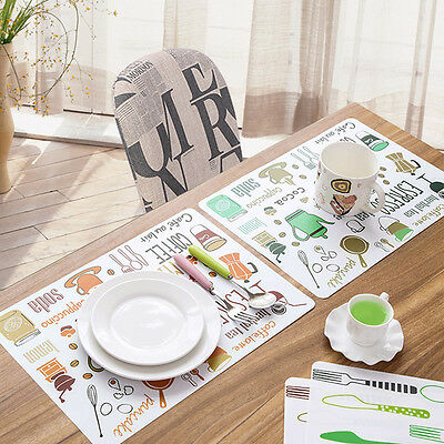 Creative Awesome PVC Anti-Slip Table Insulation Mat Heat Pad Kitchen Placemats