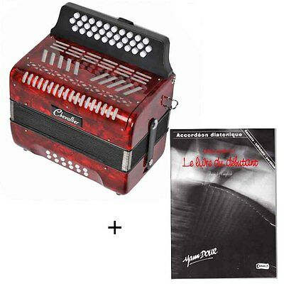 Pack accordéon diatonique 12 basses + méthode rouge