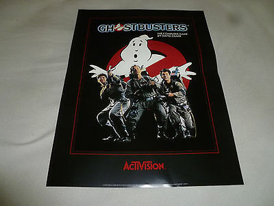 Vintage Ghostbusters Commodore 64 Computer Game Dealer Poster Rare David Crane