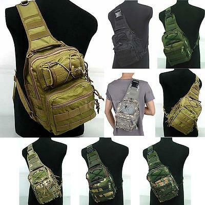 Outdoor Molle Sling Military Shoulder Tactical Backpack Camping Travel Bags US