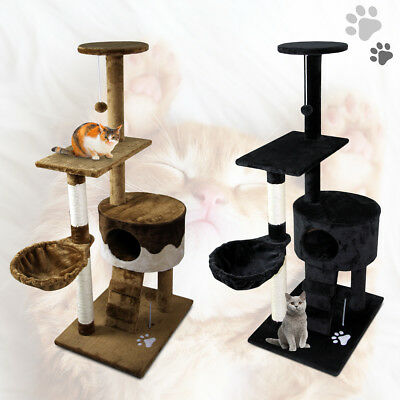 "51"" Cat Scratching Tree Kitten Condo Pet Play House Multi-level Activity Center"