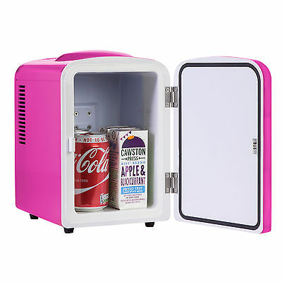 iceQ 4 Litre Portable Small Mini Fridge For Bedroom, Mini Cooler, Warmer In Pink