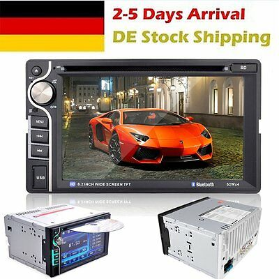 """6.2 """"2 DIN Stereo Autoradio Bluetooth Touch Screen DVD CD Auto MP5 Player FM AUX"""