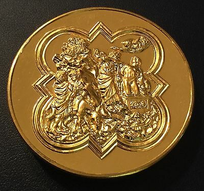 Art Sculpture The Sacrifice Of Isaac By Lorenzo Ghiberti Medal Medallion