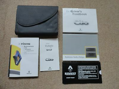 Renault Clio Drivers Manual, Radio Manual, Wallet & other related literature