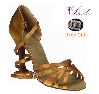 Free Shipping S.S.D Handmade Latin Salsa Dance Shoe Ladies Girls SD294L-B