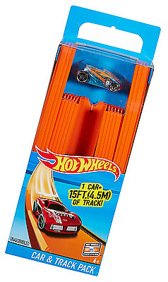 Track Builder Hot Wheels Straight Track Includes 15 Feet of Track Racing Car Toy