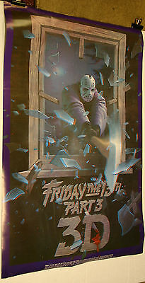 FRIDAY 13TH part III 1982  3D poster with glasses Original unused