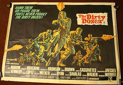 THE DIRTY DOZEN 1967 Original UK cinema poster Lee Marvin