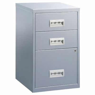 3 Drawer Pierre Henry Steel Grey Lockable Filing Cabinet A4  - Brand New
