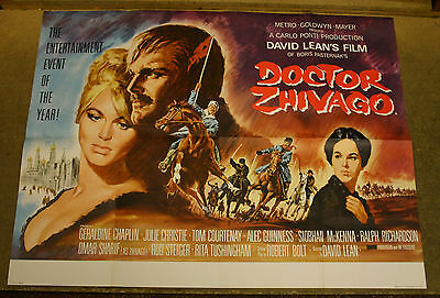 DOCTOR ZHIVAGO 1965 Julie Christie Original UK quad cinema poster 1st issue