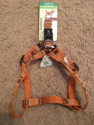 NWT American Kennel Club AKC Step-In Dog Harness SMALL S Brown/Gold